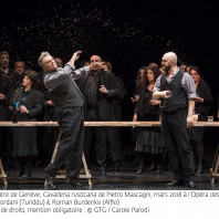 Marcello Giordani (Turiddu) et Roman Burdenko (Alfio) - Cavalleria rusticana par Emma Dante