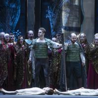 Boris Stepanov (Malcolm), Otar Jorjikia (Macduff) - Macbeth par Jean-Louis Martinoty