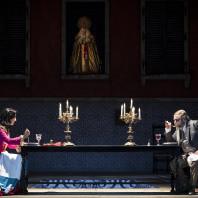 Marina Viotti (Rosine) et Carlo Lepore (Bartolo) - Le Barbier de Séville par Pierre-Emmanuel Rousseau