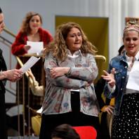 Eleonora Vacchi (Rachel), Francesca Sorteni (Mireille) et Lavinia Bini (Agnieska) - 7 Minuti