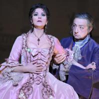 Photo de Gheorghiu et Corbelli dans Adriana Lecouvreur