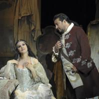 Photo de Gheorghiu et Alvarez dans Adriana Lecouvreur