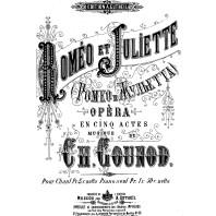 Affiche de Roméo et Juliette de Gounod