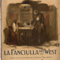 Couverture de la première édition de la partition vocale de La Fanciulla del West