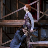 Myrto Papatanasiu (Xipharès), Patricia Petibon (Aspasie) dans Mitridate