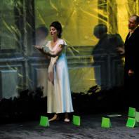Ana Camelia Stefanescu (Ophélie) et Stéphane Degout (Hamlet)