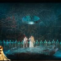 Nora Gubisch (Amneris), Gaston Rivero (Radamès), Giacomo Prestia (Ramfis) - Aida par Stathis Livathinos
