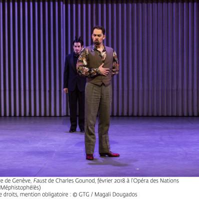 Adam Palka (Méphistophélès) - Faust par Georges Lavaudant