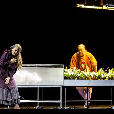 Anja Kampe (Kundry) et Evgeny Nikitin (Klingsor) - Parsifal par Richard Jones