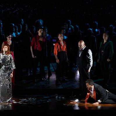 Ekaterina Bakanova, Quinn Kelsey et René Barbera - La Traviata par Paco Azorín au Festival Peralada