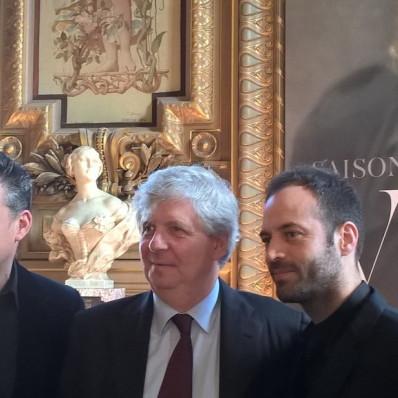 Benjamin Millepied, Stéphane Lissner et Philippe Jordan à l'annonce de saison 16/17 de l'Opéra de Paris