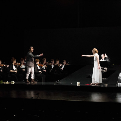 Agnieszka Slawinska et Artavazd Sargsyan dans Chimène ou le Cid