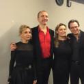 Natalie Dessay, Laurent Naouri, Natalie Dessay, David Stern au récital Grandes Voix de la Philharmonie