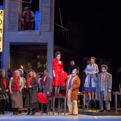 Gabrielle Philiponet (Musetta), Giulio Mastrototaro (Marcello), Fabienne Conrad (Mimi) et Davide Giusti (Rodolfo) - La Bohème par Gilles Bouillon