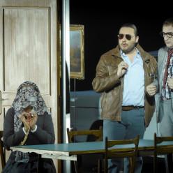 Michele Pertusi (Don Pasquale), Nadine Sierra (Norina) et Florian Sempey (Dottor Malatesta) - Don Pasquale par Damiano Michieletto