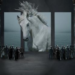 Scénographie de Lucia di Lammermoor par Martinelli