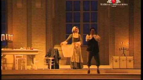 Irini Karaianni et Kurt Rydl dans Le Chevalier à la rose au Théâtre de l'Opéra de Rome