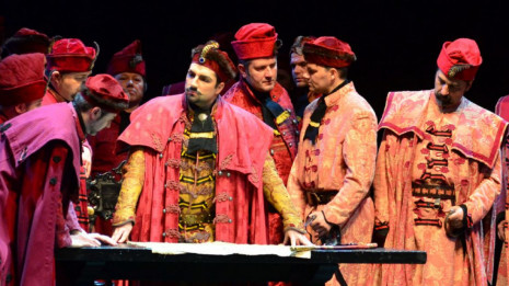 Nikola Šubić Zrinjski, héros patriotique par Ivan Zajc au Théâtre national Croate à Zagreb